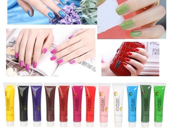 12 tubes of UV paint Nail Art Painting Acrylic