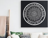 WHATEVER COMES Yoga Inspired Canvas Decor Yoga Quote Teacher Gift Zen Decoration Home Yoga Studio Luxury High Quality Canvas Wall Art