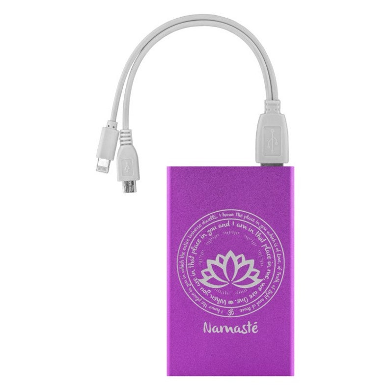 Yoga Teacher Gift Perfect Yoga Saying Gifts * Laser Etched Phone Charger Charging For Apple iPhone /& Android NAMASTE Yoga Student Gift