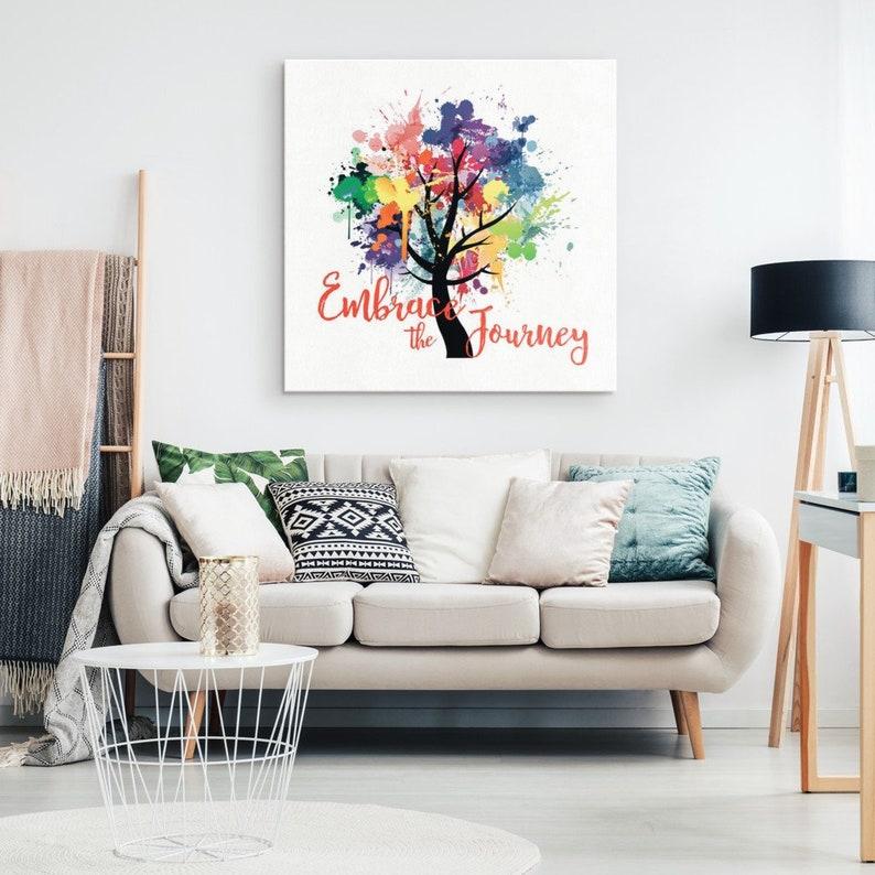 Embrace The Journey Zen Home Decor Studio Decor Yoga Etsy