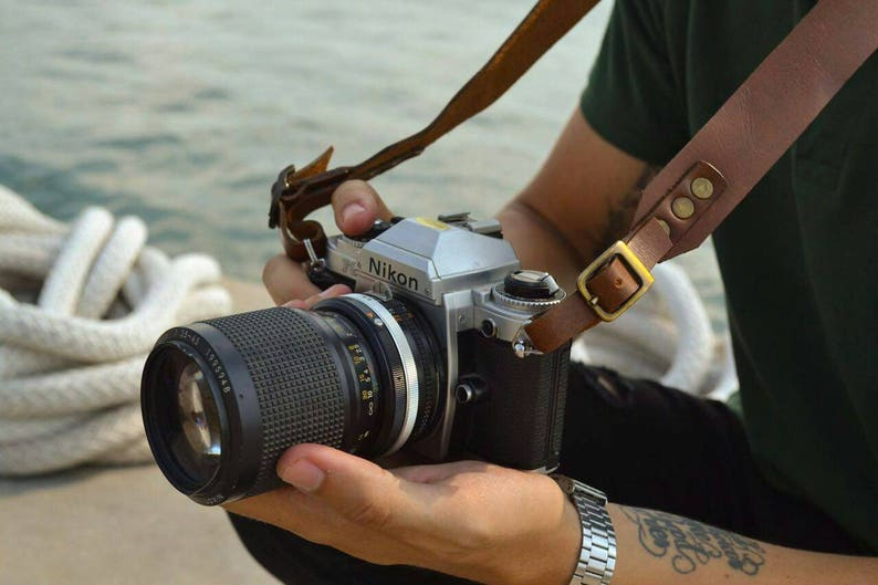 Leather Camera Strap  Camera Strap DSLR Camera strap Gift for Men Women