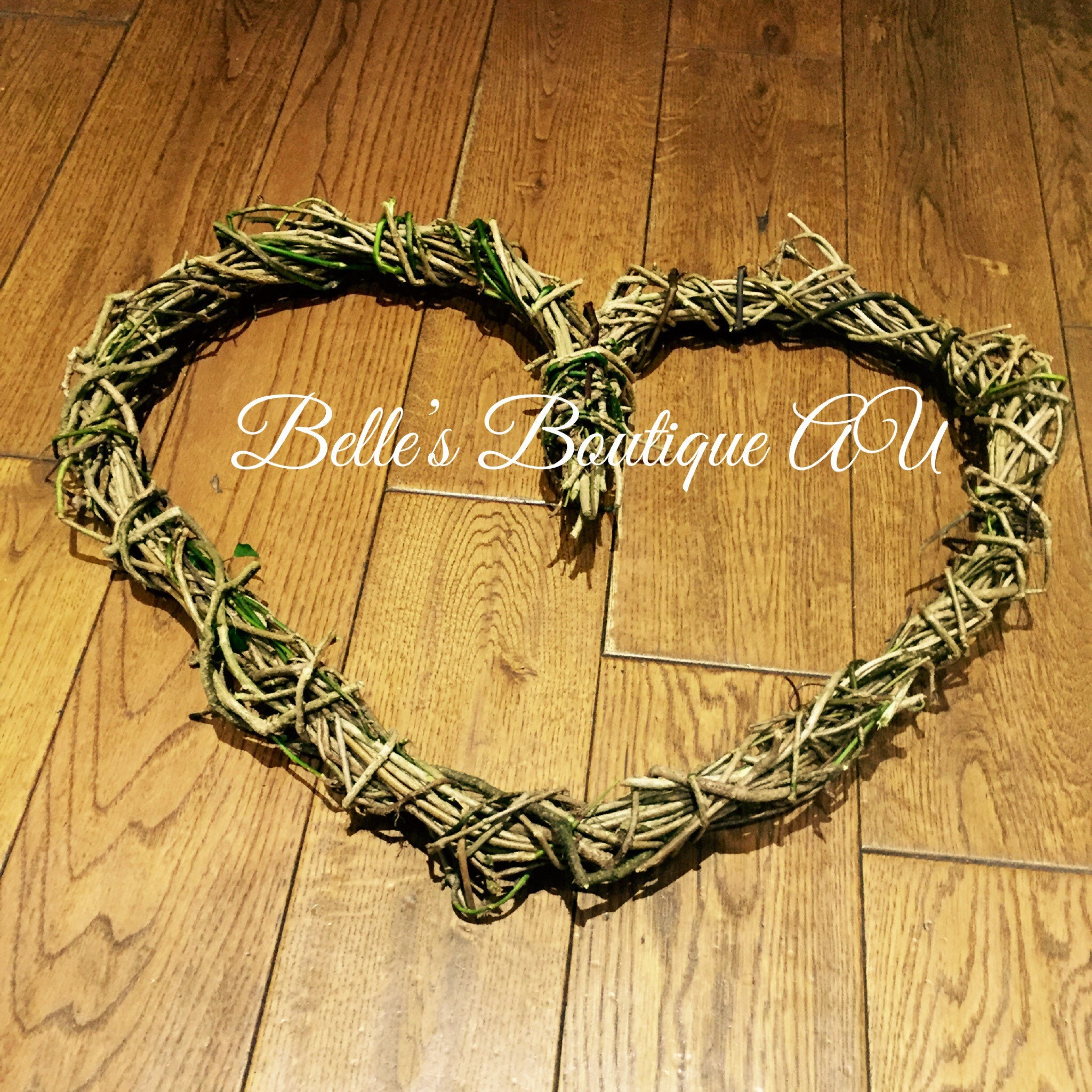 Large Love Heart Wreath Rustic Wedding Decor Rustic Home