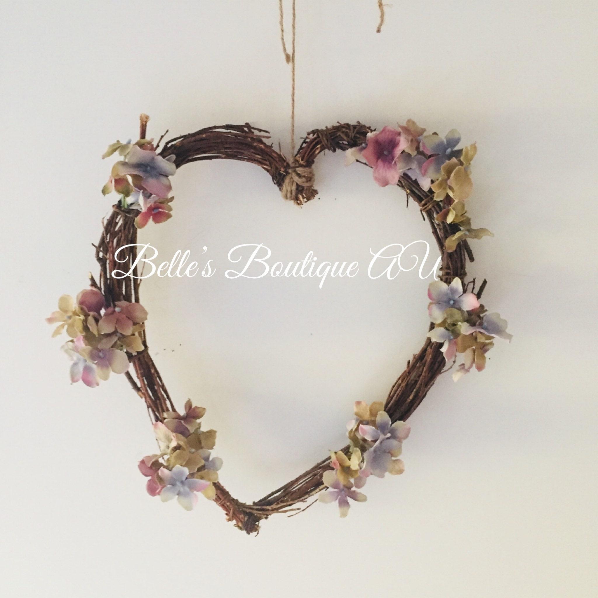 Summer Flower Wreaths Love Heart Wreath Floral Heart