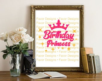 Birthday Princess SVG Svg Shirt Gift Boss Silhouette File Circuit