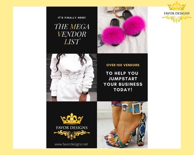 Mega Vendor List/Vendor List/Clothing/Wholesale image 0