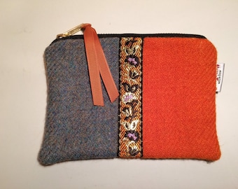 6d582cfa2f Harris Tweed purse with sari ribbon