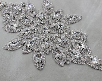 Wedding Bridal Dress Rhinestone Applique Luxury Diamond Applique Accessories Shiny Crystal Applique By The Piece XN
