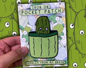 PICKLE Iron on Pocket Patch
