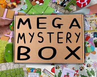 Mystery Box - mega - books - cards - pins - patches - puzzle - mousemat