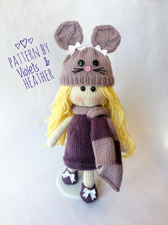 Knitting Pattern For Kennedy Knit Doll Instant Pdf Pattern Etsy