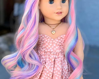 4pcs Wig Comb Fit For 18/'/' American Girl Purple Toy Hair Pick Doll Accessories