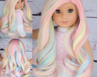 Custom Doll Wig Deluxe Heat safe fibers for 18