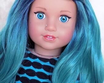 c7f108f2a1c Mermaid Aqua- Custom Doll Eyes - Fit 18