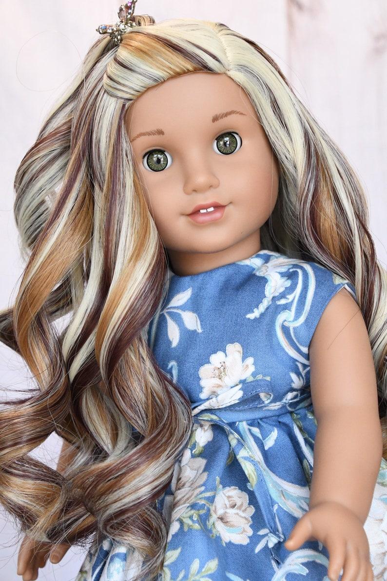 """Fits 18"""" American Girl Dolls 11"""" Custom Doll WIG Gotz Journey Girl Gifts OG"""