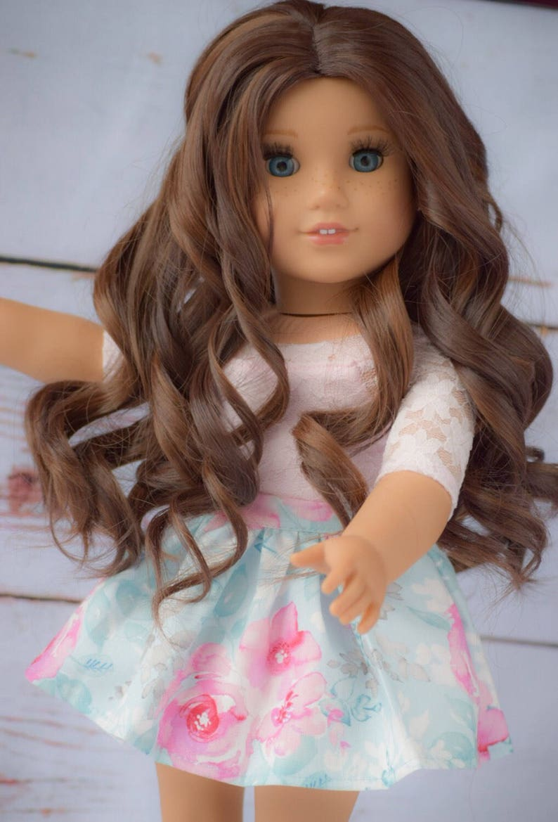 18 inch Doll Wigs Custom Wavy Hair Hairpiece for Ameircan Girl Dolls Accessories