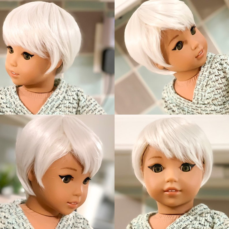 "11"" Custom Doll Wig for 18/"" American Girl Dolls Gotz My Life OG Journey Girls"