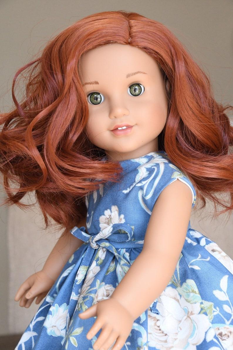 """11"""" Custom Doll Wig for 18/"""" American Girl Dolls Gotz My Life OG Auburn Red"""