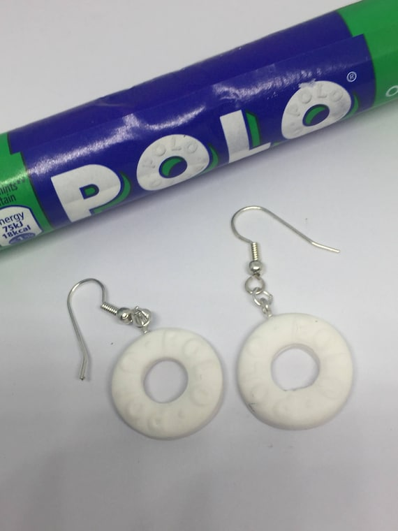 Mint Blue Watercolour Effect Polymer Clay Drop Earrings Silver Plated Ear Posts