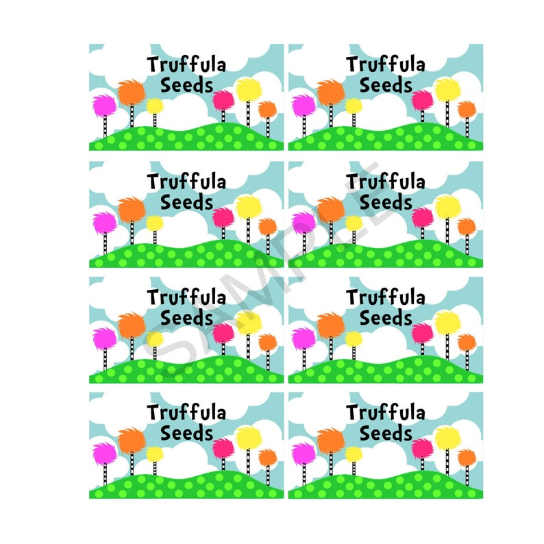 image relating to Truffula Seeds Printable called Truffula Seeds