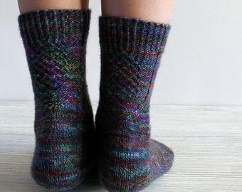 knit socks for women, Christmas present, wool socks, knit leg warmers, knitted socks, gift for her, colorful knit socks, winter socks