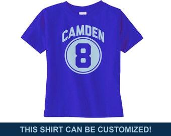 Preppy Personalized Boys Birthday Shirt - Customizable Birthday Shirt - Custom Boys Birthday - Boys Eighth Birthday Shirt - 8th Birthday