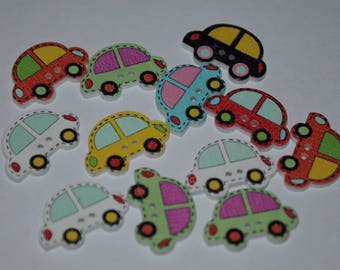 set of 15 fancy buttons