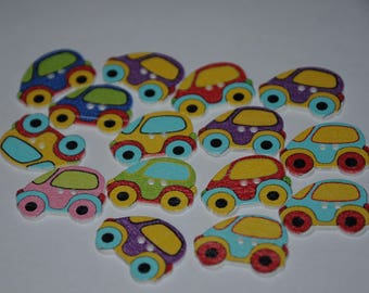 set of 12 fancy buttons