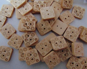 set of 30 square buttons