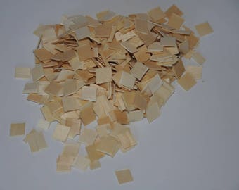 Set of 500 mosaics made of wood, natural