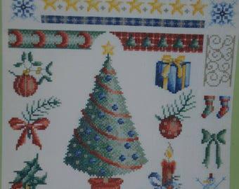"""embroidery cross stitch pattern """"Christmas"""""""