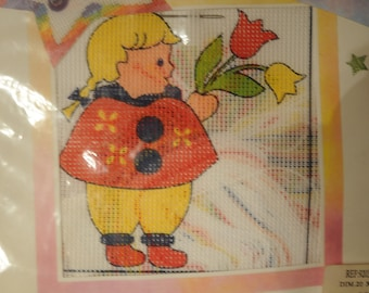 "printed canvas, ""the girl with tulips"" Kit"