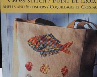 """embroidery cross stitch pattern """"shellfish"""""""