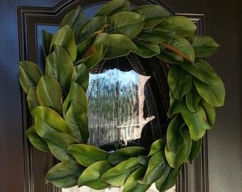 Handmade Magnolia Wreath - Rustic Farmhouse Style