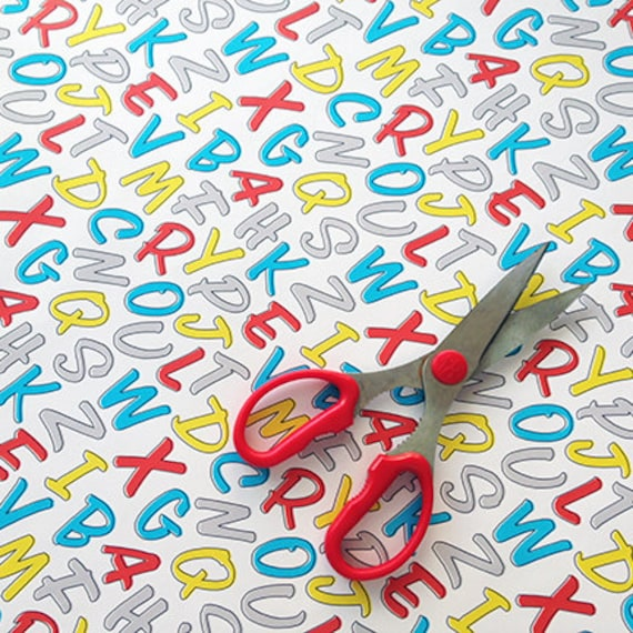 Alphabet wrapping sheets