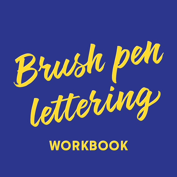Brush Pen Lettering workbook (physical copy)