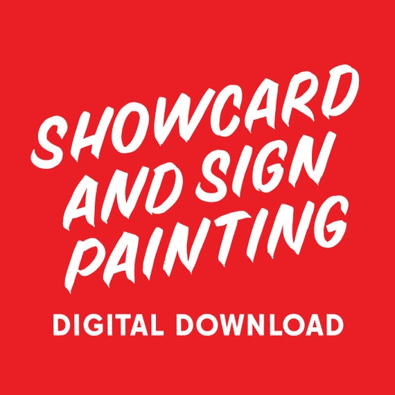 Showcard & Sign Painting workbook (digital download)
