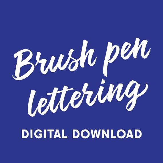 Brush Pen Lettering workbook (digital download)