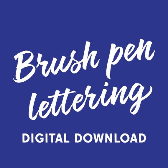 Brush Pen Lettering workbook (digital download)