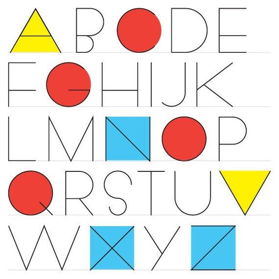 Geometrica Sans vector alphabet