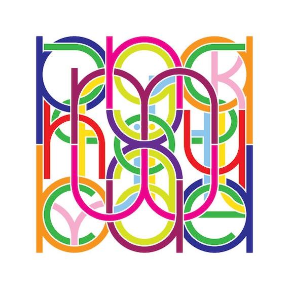 Alphabet print #2