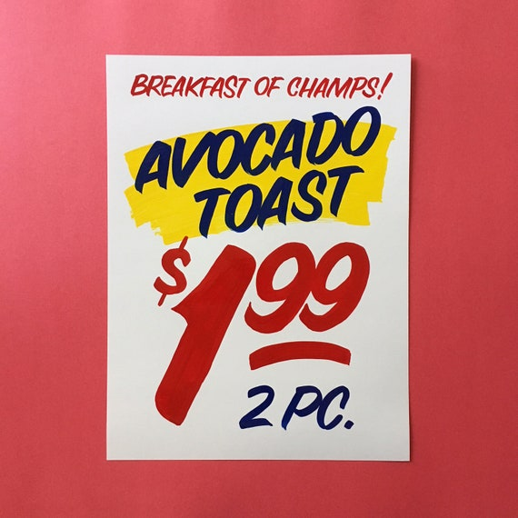 ART PRINT: Avocado toast
