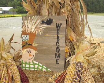 Fall Rustic Welcome Sign