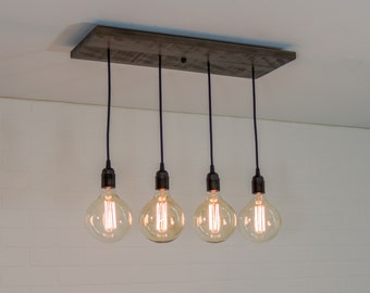 Kitchen Island Lighting kitchen island lighting fixture rustic ceiling chandelier edison pendant light with 4 pendants wood kitchen lighting fixture