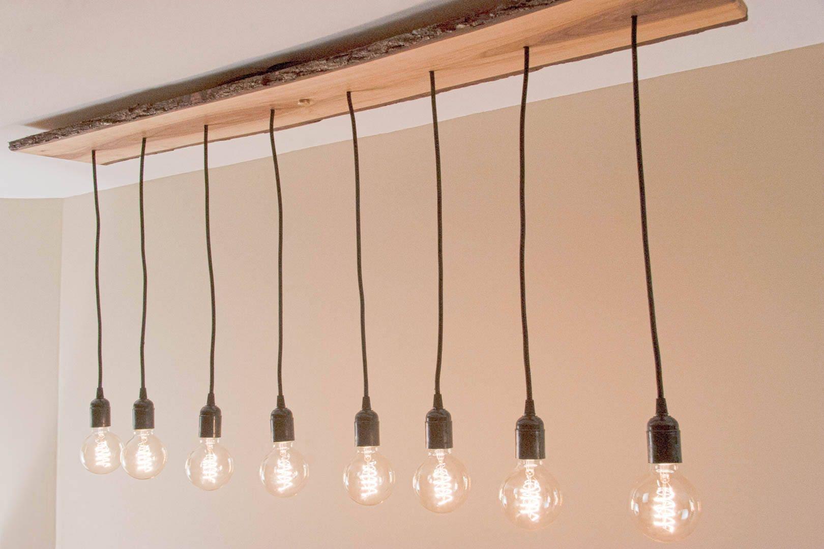 Custom wood light fixture 8 pendant restaurant dining chandelier rustic wood edison pendant light