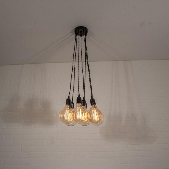 Rustic Industrial Kitchen Island Lighting Chandelier With