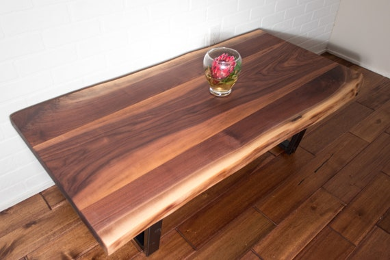 Strange Live Edge Coffee Table Live Edge Walnut Coffee Table On Steel Legs Coffee Table For Family Room Living Room Or Den Gmtry Best Dining Table And Chair Ideas Images Gmtryco