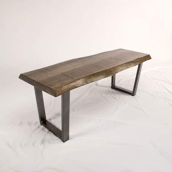 Awe Inspiring Wooden Bench Live Edge Entry Benches Custom Hallway Bench Or Dining Room Bench In Mill Sawn Maple Rustic Wood Bench Caraccident5 Cool Chair Designs And Ideas Caraccident5Info