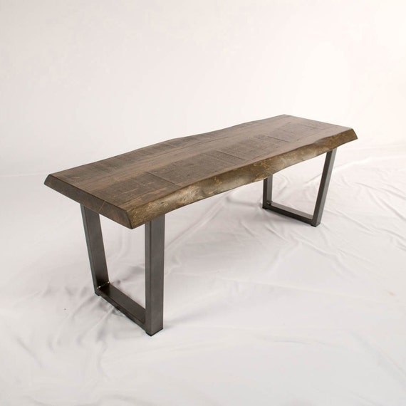 Fabulous Wooden Bench Live Edge Entry Benches Custom Hallway Bench Or Dining Room Bench In Mill Sawn Maple Rustic Wood Bench Andrewgaddart Wooden Chair Designs For Living Room Andrewgaddartcom