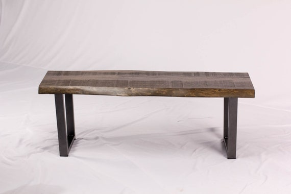 Miraculous Wooden Bench Live Edge Entry Benches Custom Hallway Bench Or Dining Room Bench In Mill Sawn Maple Rustic Wood Bench Caraccident5 Cool Chair Designs And Ideas Caraccident5Info