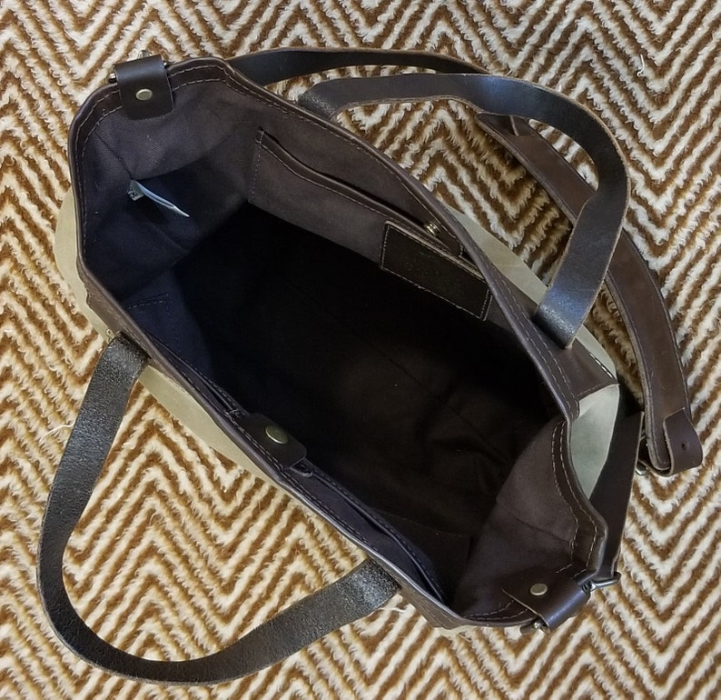 Wolverine 1000 Mile /'Rambler/' shoulder bag brown Horween leather and waxed cotton